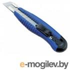 Нож канцелярский мощный с шириной лезвия 18мм с 2-мя запасными лезвиями,синий, KW-trio
