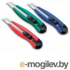 Нож канцелярский мощный с шириной лезвия 18мм с 2-мя запасными лезвиями., KW-trio