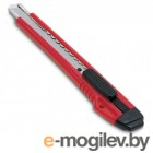 Нож канцелярский с шириной лезвия 9мм, 2 запасных лезвия, красный, KW-trio