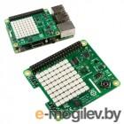 Плата ввода-вывода Raspberry Pi Sense Hat Retail, 8x8 RGB LED matrix, 5-button joystick, Sensors: Gyroscope, Accelerometer, Magnetometer, Temperature, Barometric pressure, Humidity Raspberry Pi