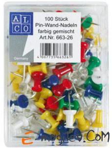 Гвоздики Alco 660-26 канцелярские ассорти 20шт в пластиковой коробке