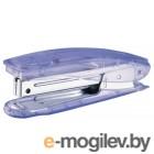 Степлер №10 прозрачный , до 10 листов, вместимость 100 скоб, встр. антистеплер, KW-trio.
