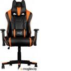 Кресло для геймера Aerocool AC220 AIR-BO , черно-оранжевое, с перфорацией, до 150 кг, размер, см (ШхГхВ) : 66х63х125/133.