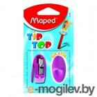 Maped Tip Top: точилка 1 отверстие и ластик-насадка на карандаш
