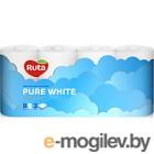 Туалетная бумага Ruta Pure White 8рул