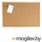 Доска WEISS, 60х100 см., пробковая,  в деревянной раме  + аксессуары.