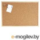 Доска WEISS, 80х120 см., пробковая,  в деревянной раме  + аксессуары.