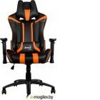 Кресло для геймера Aerocool AC120 AIR-BO , черно-оранжевое, с перфорацией, до 150 кг, размер, см (ШхГхВ) : 70х55х124/132.