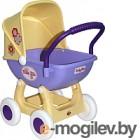 Коляска для куклы Полесье Arina 4 колеса / 48202 желтый/сиреневый