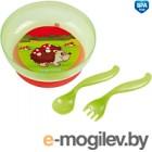 Набор детской посуды Canpol 21/300 красно-салатовый