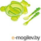 Набор детской посуды Canpol Мишка 2/422 зеленый