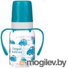 Бутылочка для кормления Canpol С ручками 3+ / 11/821 120мл, бирюзовый