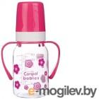 Бутылочка для кормления Canpol С ручками 3+ / 11/821 120мл, розовый