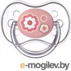 Пустышка Canpol Newborn Baby силиконовая круглая 0-6мес / 22/562 розовый