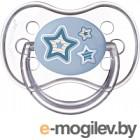Пустышка Canpol Newborn Baby силиконовая круглая 0-6мес / 22/562 голубой