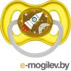 Пустышка Canpol Космическая латексная круглая 0-6мес / 23/221 желтый, со светящимся колечком
