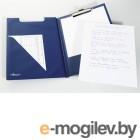 Папка с верхним прижимом А4 PVC синяя