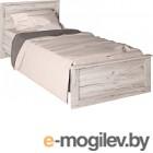 Односпальная кровать Интерлиния Лима ЛМ-К 90 дуб корабельный белый