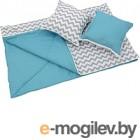 Комплект в кроватку Polini Kids Зигзаг (голубой)