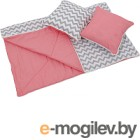Комплект в кроватку Polini Kids Зигзаг (розовый)