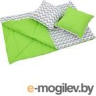 Комплект в кроватку Polini Kids Зигзаг (зеленый)