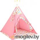 Комплект в кроватку Polini Kids Жираф (розовый)