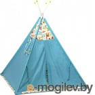 Комплект в кроватку Polini Kids Жираф (голубой)