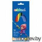 Карандаши цветные Adel ADELAND 211-2315-100 3мм 12 цветов 2 дизайна упаковки коробка/европодвес