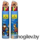 Карандаши цветные Adel Colour 211-2360-003 3мм 24 цвета алюминиевый тубус