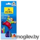 Карандаши цветные Adel Colour Triangular 211-3315-007 трехгранные 3мм 12 цв. карт. коробка/европод.