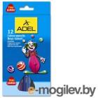 Карандаши цветные Adel Jumbo 211-7510-000 трехгранные 5,4мм 12 цветов картонная коробка/европодвес