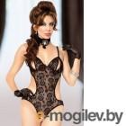 Kelly - Боди с интимными вырезами черное-M/L