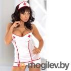 Tina - Костюм медсестры бело-красный-M
