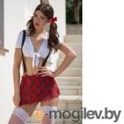 Костюм школьницы SoftLine Collection Kiki красно-белый-M/L