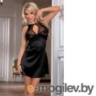 Нижнее платье и стринги Candy Girl, чёрные-OS