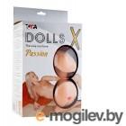 Кукла надувная Dolls-X Passion, Блондинка. Кибер вставка: вагина-анус.