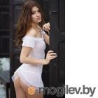 Ночная сорочка и стринги SoftLine Collection Monica белые-S/M