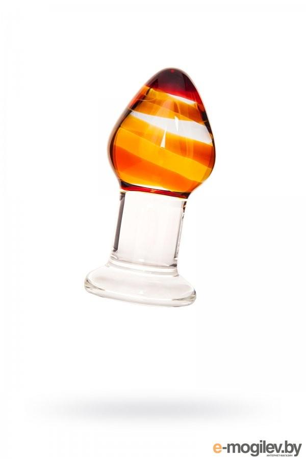 Анальная втулка Sexus Glass стеклянная, 8,5 см