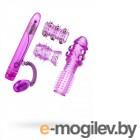 Вибратор с набором насадок 15,2см фиолетовый