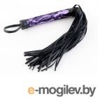 Флоггер с кружевной ручкой пурпурный