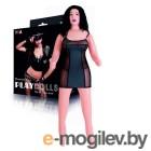 Кукла надувная с реалист. головой. Брюнетка. Вставка вагина – анус. 3 отверстия. Костюм полицейской