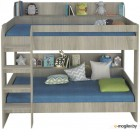Двухъярусная кровать Polini Kids Simple 5000 (белый)