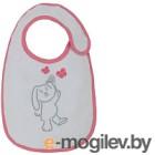 Набор нагрудников детских Polini Kids Зайки с вышивкой (розовый)