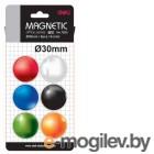 Магнит для досок Deli E7825 ассорти d=30мм круглый (упак.:6шт)