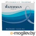 Чернила в картридже З/ч. Waterman Ink cartridge Intl  Blue  в упаковке 6 картриджей 52012