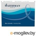 Чернила в картридже З/ч. Waterman Ink cartridge Standard Blue  в упаковке 8 картриджей 52002