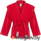 Куртка для самбо Green Hill JS-302 (р-р.0/130, красный)