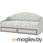 Односпальная кровать Softform Стрекоза, капучино/шевланд