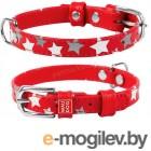 Ошейник Collar Glamour Звездочка 35833 (красный)