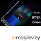 Твердотельный накопитель SSD 2.5 500GB Samsung 860 EVO (R550/W520Mb/s, V-NAND, SATA 6Gb/s) (MZ-76E500BW)